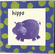 Hippo with Border Fine-Art Print