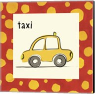Taxi with Border Fine-Art Print
