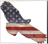 American Flag Eagle Cut Out Flat Fine-Art Print