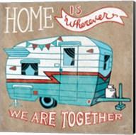 Adventure Love Camper Taupe Fine-Art Print