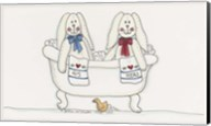 Bath Time Bunnies Fine-Art Print