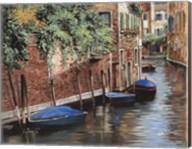 Barche Blu A Venezia Fine-Art Print