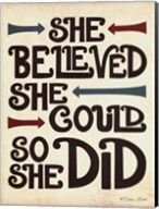 She Believed Fine-Art Print