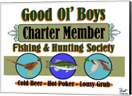 Good Ol Boys Hunting & Fishing Society Fine-Art Print