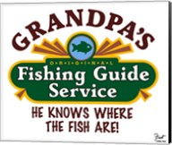 Grandpa's Fishing Guide Service Fine-Art Print