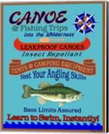 Canoe Fishing Wilderness Fine-Art Print