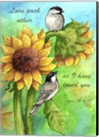 Sunflower And Chickadee Fine-Art Print