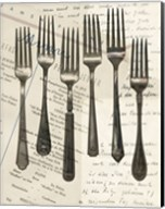 Cutlery Forks in Sepia Fine-Art Print