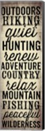 Hunting and Fishing Typography II Fine-Art Print