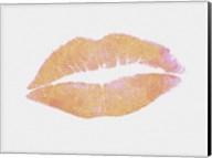 Peach and Gold Lips Fine-Art Print