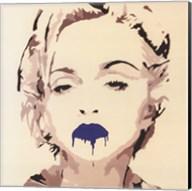 Madonna Pop Art Blue Lips Fine-Art Print