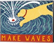 Make Waves Yellow Wbanner Fine-Art Print