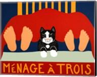 Menage A Trois Black Cat Fine-Art Print