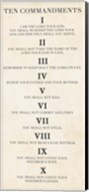 Ten Commandments - Roman Numerals Fine-Art Print