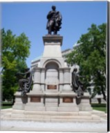 Governor Thomas A. Hendricks Monument at Indiana State Capitol Building Fine-Art Print