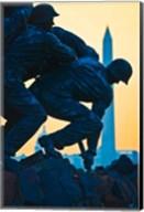 Iwo Jima Memorial at Dusk, Arlington National Cemetery, Arlington, Virginia Fine-Art Print