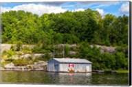 Old Metal Boathouse, Lake Muskoka, Ontario, Canada Fine-Art Print
