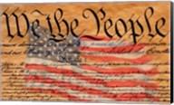 Declaration of Independence and U.S. Flag Fine-Art Print