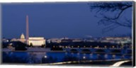 Washington Monument, Lincoln Memorial, Capitol Building, Washington DC Fine-Art Print