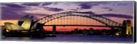 Sydney Harbor Bridge At Sunset,  Australia Fine-Art Print