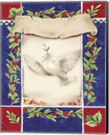Mistletoe Holiday Dove Fine-Art Print