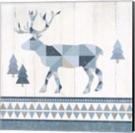 Nordic Geo Lodge Deer IV Fine-Art Print