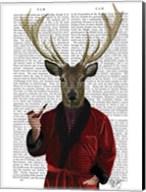 Deer in Smoking Jacket Fine-Art Print