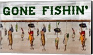 Gone Fishin' Wood Fishing Lure Sign Fine-Art Print