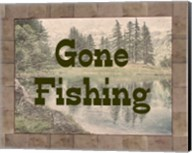 Gone Fishing Lake Sign Fine-Art Print