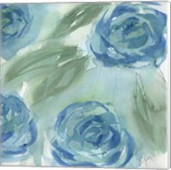 Blue Green Roses II Fine-Art Print