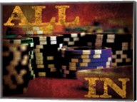 All In Casino Grunge 4 Fine-Art Print