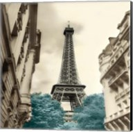 Teal Eiffel Tower 1 Fine-Art Print