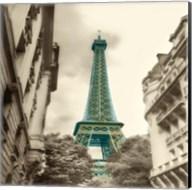 Teal Eiffel Tower 2 Fine-Art Print