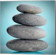Stacking Stones 2 Teal Fine-Art Print
