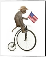 Monkeys Riding Bikes #3 Fine-Art Print