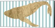 Pin Stripe Whale II Fine-Art Print