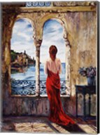Serene In Red Fine-Art Print