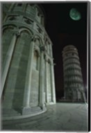 Leaning Tower of Pisa at Night Fine-Art Print