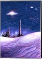 Blue UFO Night Fine-Art Print