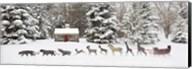 Sleigh in the Snow, Farmington Hills, Michigan 09 Fine-Art Print