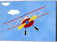 Cat In A Bi-Plane Fine-Art Print