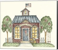 Schoolhouse With Flag Fine-Art Print