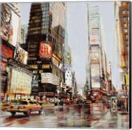 Taxi in Times Square Fine-Art Print