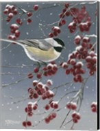 Winter Chickadees I Fine-Art Print
