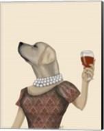 Yellow Labrador Wine Snob Fine-Art Print