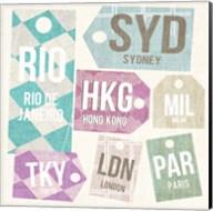 City Tags Square II Fine-Art Print