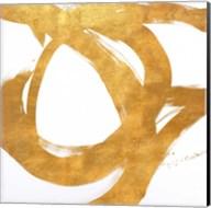 Gold Circular Strokes I Fine-Art Print