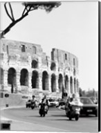 Colessium With Moped Rome Fine-Art Print