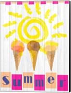 Summer Ice Cream Cones Fine-Art Print