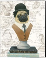 Canine Couture Newsprint III Fine-Art Print